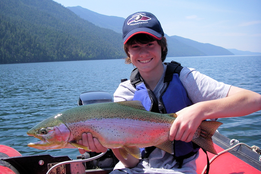 Large rainbow trout from Quesnel Lake