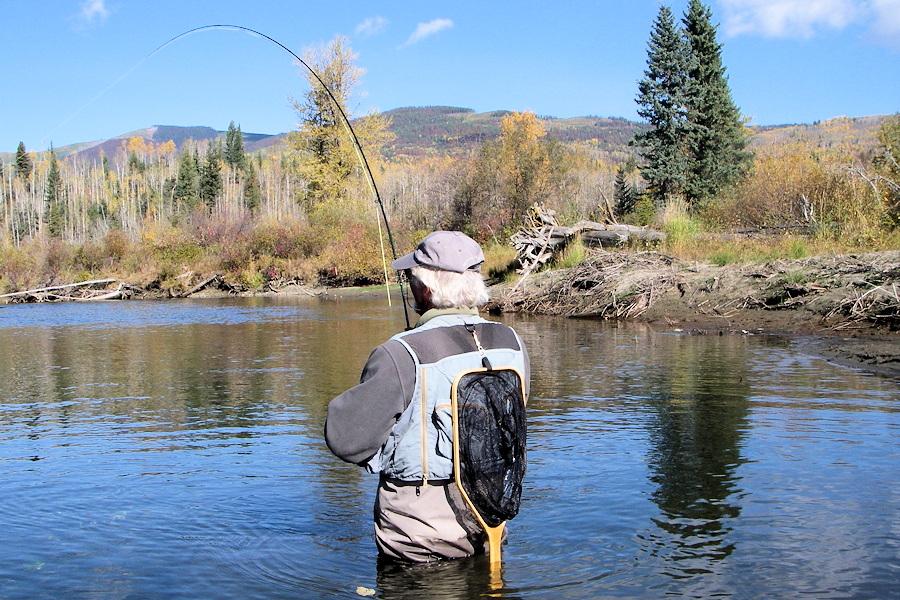 autumn fishing near Quesnel Lake