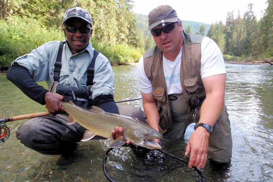 big bull trout caught at Elysia Resort, BC